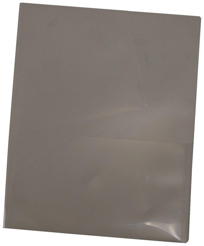 Filexec 2-Pocket Folder, Business Card Die-Cut, Translucent Smoke (Pack of 12) (50115-31210)