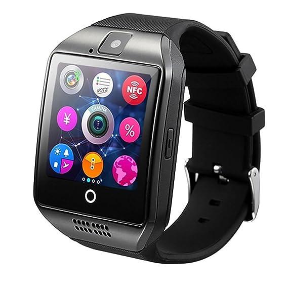 Q18 Smart reloj teléfono móvil, Bluetooth SmartWatch con cámara y pantalla táctil Sim TF tarjeta anti-lost sincronización de mensaje relojes de pulsera para ...