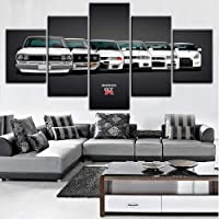 Canvas painting Hot Sales Without Frame 5 Panels Picture GTR car Canvas Print Painting Artwork Wall Art Canvas painting Wholesale decorative paintings-40CMx60/80/100CM