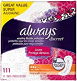 Always Discreet, Incontinence Liners, Very Light, Long Length, 111 Count, 111 Count