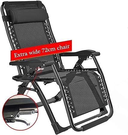 Color : Black FENGLIAN Comodo Divano Patio sedie a Sdraio Sedie a Sdraio gravit/à Zero Chaise Esterna del Giardino a Dondolo Sedia a Sdraio for la Spiaggia di Campeggio Supporta 200kg