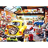 Buffalo Games - Hiro Tanikawa - Cartoon World - Sam's Garage - 1000 Piece Jigsaw Puzzle