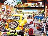 Buffalo Games - Hiro Tanikawa - Cartoon World - Sam's Garage - 1000 Piece Jigsaw Puzzle