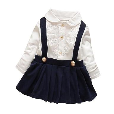 feiXIANG - Falda - para bebé niña Azul Marino 18 Meses: Amazon.es ...