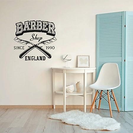 yaoxingfu Etiqueta de la Pared Logotipo de la barbería Vinilo ...