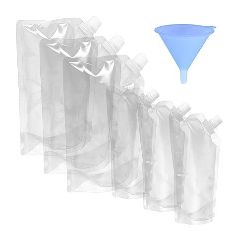 BESTONZON 7 Unids de pie bolsas de plástico transparente ...