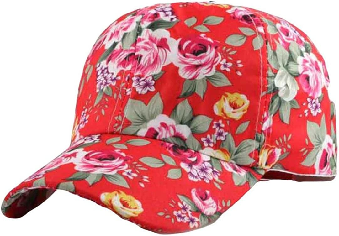 Funic 2018 Clearance Sale Women Baseball Cap Floral Print Snapback Hat Hip-Hop Adjustable