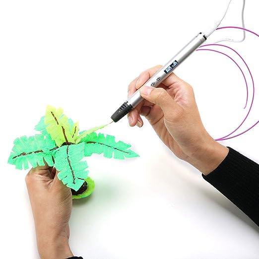 LG&S Impresión 3D Pen, Control de Velocidad Inteligente Dibujo ...