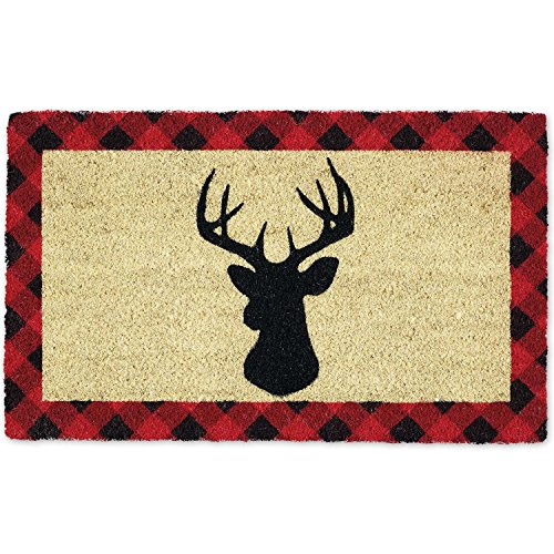 DII HOLIDAY STAG DOORMAT, 18x30