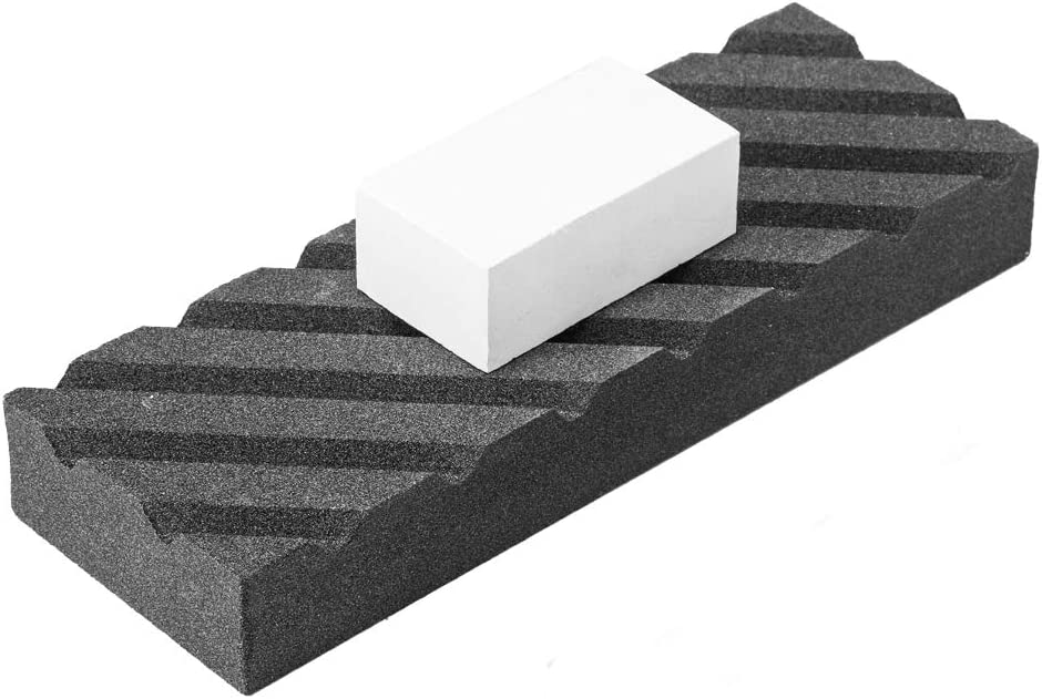 Angerstone Dual Grit Coarse/Fine Flattening Stone Set - Two Sharpening Stones Flattener - Whetstone Fixer with Grooves for Re-Levelling Any Whet stones, Oil Stones, Waterstones