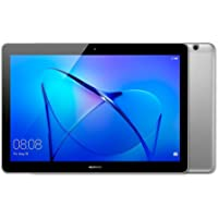 """HUAWEI MediaPad T3 10 – 9.6"""""""" Android 7.0 Tablet, HD IPS Display with Eye-Comfort Mode, 16GB, Dual Stereo Speakers, 4800mAh, up to 9.8 hours video playback, Children's Corner, Grey"""