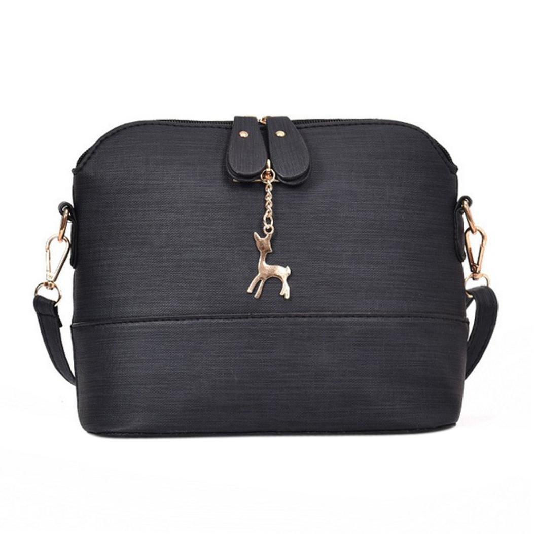 f6fba214bf9 Amazon.com: Sunyastor Women Messenger Bags Vintage Leather Handbag ...