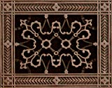 Decorative Grille, Vent Cover, or Return Register. Made of Urethane Resin to fit over a 6''x8'' duct or opening. Total size of vent is 8''x10''x3/8'', for wall and ceiling grilles (not for floor use).
