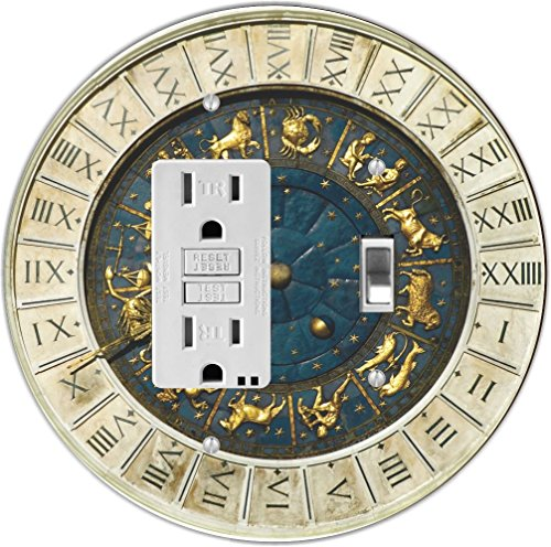Rikki Knight Zodiac clock at San Marco square in Venice Design Round GFI Toggle Light Switch - Marcos Outlets At San