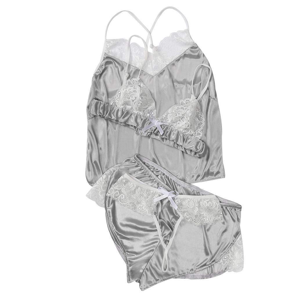 Cocoty-store 2019 Conjunto de lencería de Encaje Transparente con Tirantes Ahueca hacia Fuera para Mujer Conjuntos de lencería: Amazon.es: Ropa y accesorios
