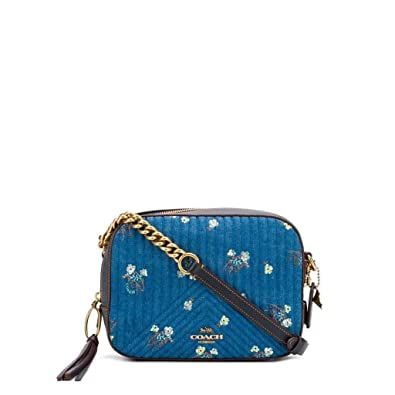 a7552e8a44 COACH Women's Camera Bag With Floral Bow Print B4/Denim One Size ...