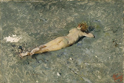 Perfect Effect Canvas ,the High Definition Art Decorative Prints On Canvas Of Oil Painting 'Fortuny Marsal Mariano Nude On The Beach At Portici 1874 ', 8 X 12 Inch / 20 X 31 Cm Is Best For Foyer Decor And Home Gallery Art And Gifts