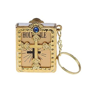 Amazon.com: Hukai Mini llavero con diseño de Jesús cristiano ...