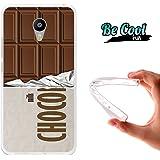 Becool® Fun - Funda Gel Flexible para Meizu M3 Note .Carcasa TPU fabricada con la mejor Silicona , protege y se adapta a la perfección a tu Smartphone y con nuestro diseño Tableta de chocolate