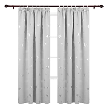 Amazon De Deconovo Vorhang Kinderzimmer Gardinen Sterne Vorhang