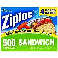Ziploc Easy Open Tabs Sandwich Bags, 500 CT