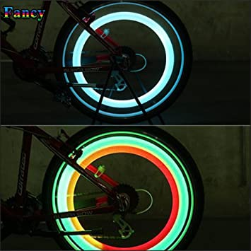2X Luz LED Rueda Bici Bicicleta Ciclismo Multicolor 3 Modos Flash ...