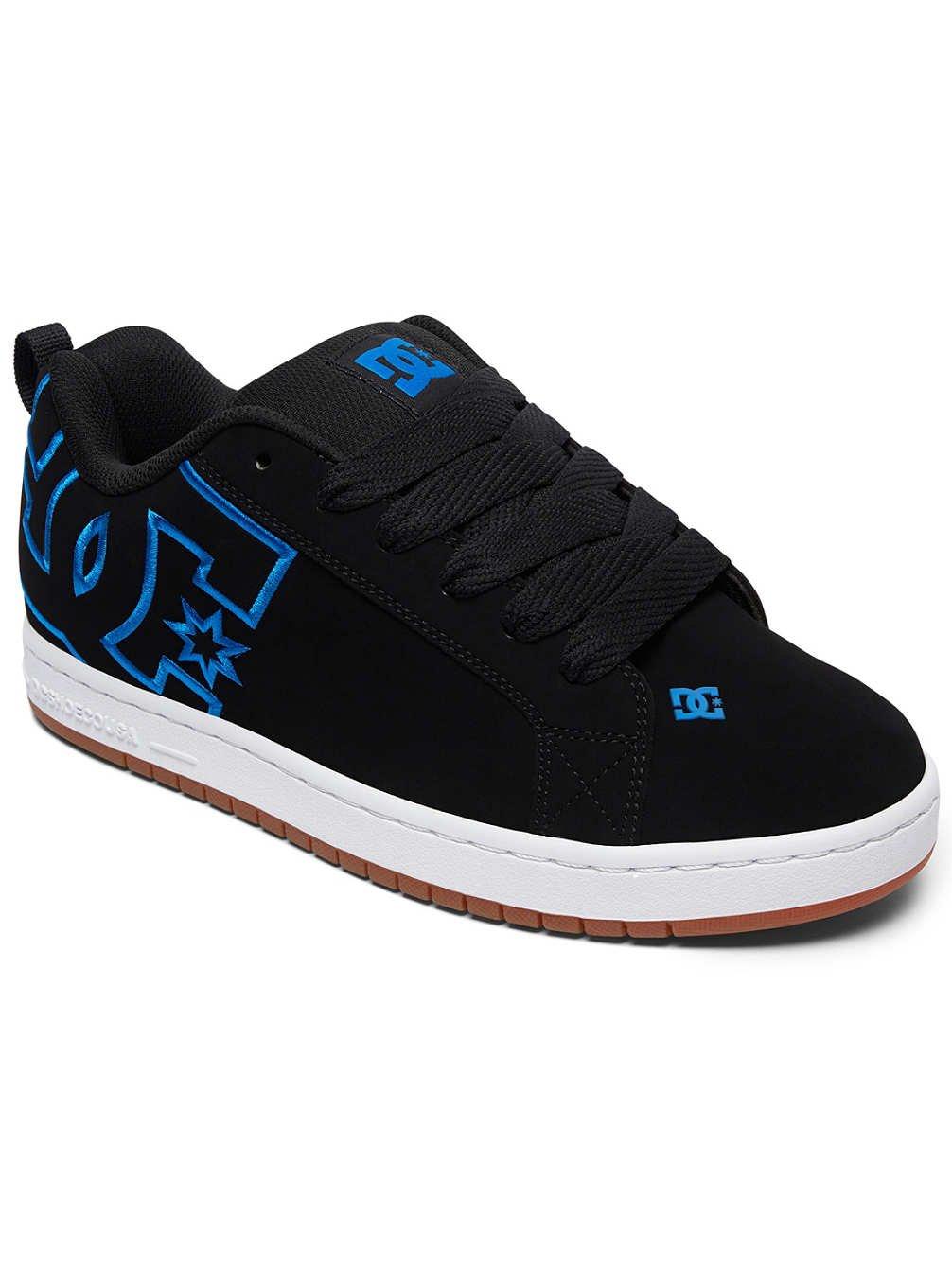 DC Shoes Court Graffik - Zapatillas para Hombre 55 EU Black/Black/Blue Black/Black/Blue