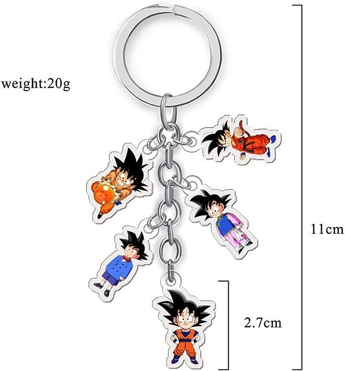 Dragon Ball Son Goku Schlüssel Ring Kugel Anhänger mit 1 bis 7 Sternen Cosplay