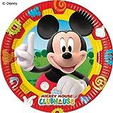 10Platos * Mickey Mouse * para fiestas y cumpleaños infantiles de Disney//Fiesta Fete Juego platos de papel Mickey desechables