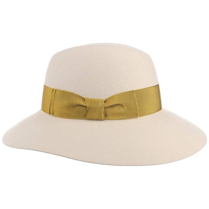 Borsalino Cappello da Donna Carmelita Tesa Larga Feltro di Pelo  Amazon.it   Abbigliamento 42935f1bfad1