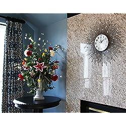 27Diameter Oversized Metal Radiant Crystal Sun Contemporary Style Decorative Wall Clock