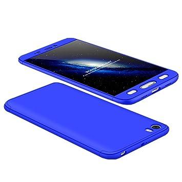 Tmusik Funda Xiaomi Mi5 Mi 5, 360 Grados Integral Carcasa Cuerpo Completo Caso Cubierta, 3 en 1 Híbrido Anti-Choque Snap On Diseño Case, Anti-Arañazos ...