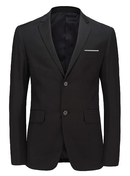 Amazon.com: Para hombre Blazer dos botones slim fit traje de ...