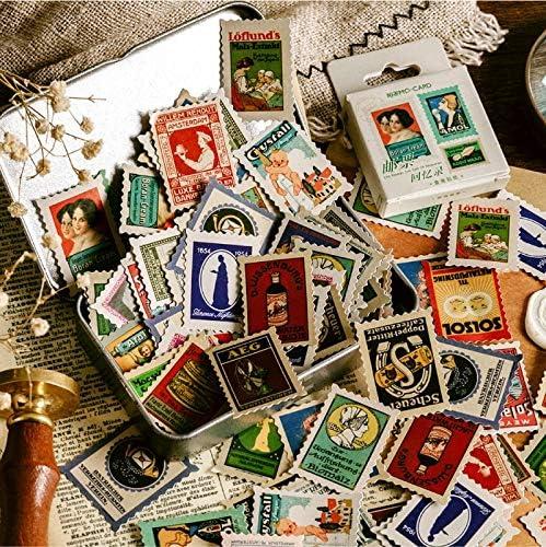 PMSMT Serie de Sellos Antiguos Pegatinas Decorativas para Diario Scrapbooking Stick Etiqueta Diario álbum papelería Sello Retro Pegatinas de Recuerdos: Amazon.es: Electrónica
