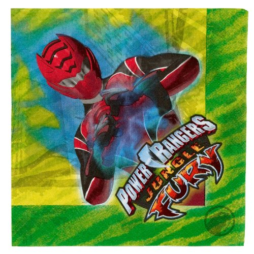 Power Rangers 'Jungle Fury' Lunch Napkins (Power Rangers Jungle Fury Costume)