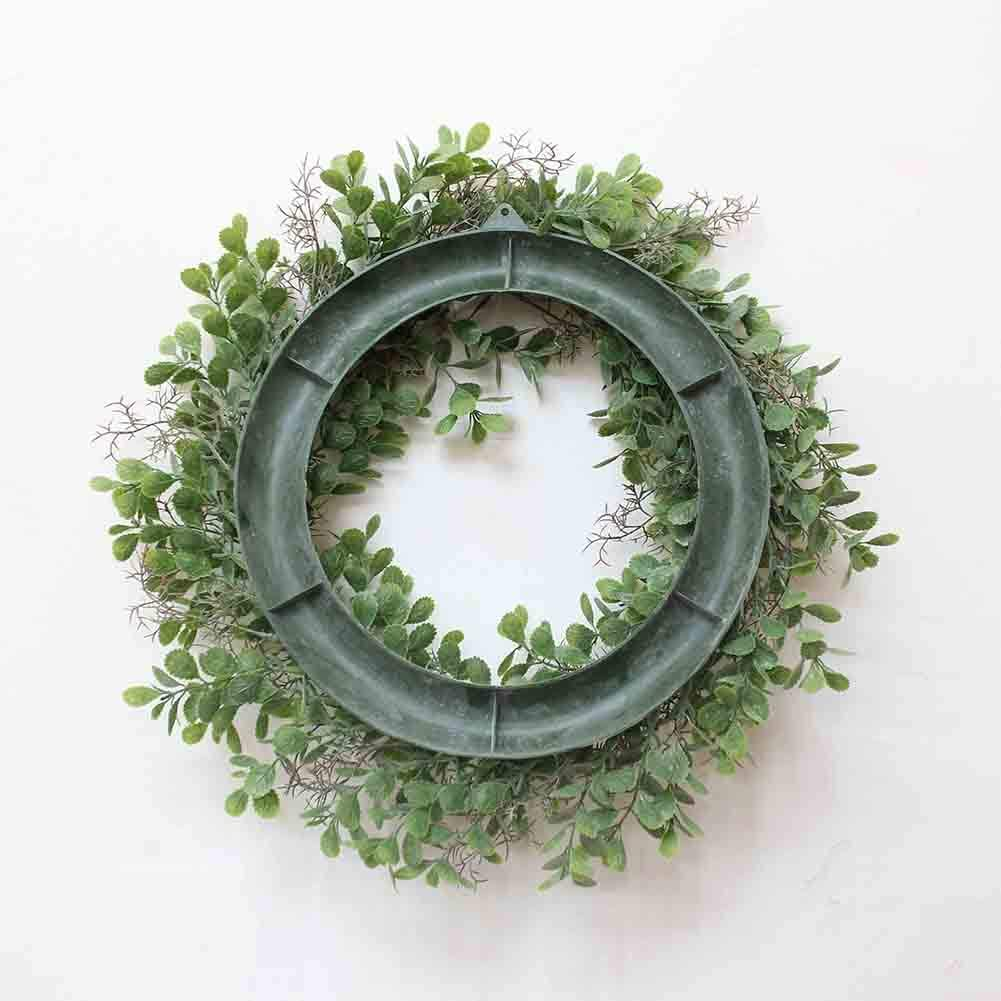 Green Corallina Officinalis Shape Wreath for Door Wall Window Party Decor 32CM RONSHIN 12.5inch