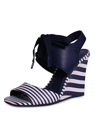 ec2d597b588f Tory Burch Maritime Striped Wedge Sandal