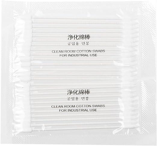 Yiwann hisopos de algodón, 25 x algodón desechable Stick herramienta de limpieza para AirPods auriculares teléfono puerto de carga: Amazon.es: Hogar