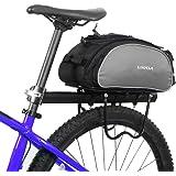 Lixada Bolsa Alforja Trasera para Bicicleta 13L Multifuncional (Negro)