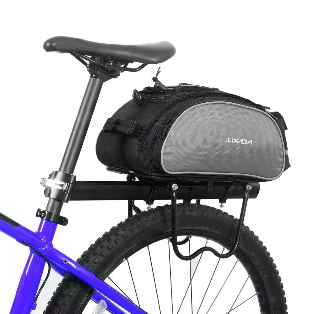 Lixada Bolsa Alforja Trasera para Bicicleta 13L Multifuncional (Negro) product image