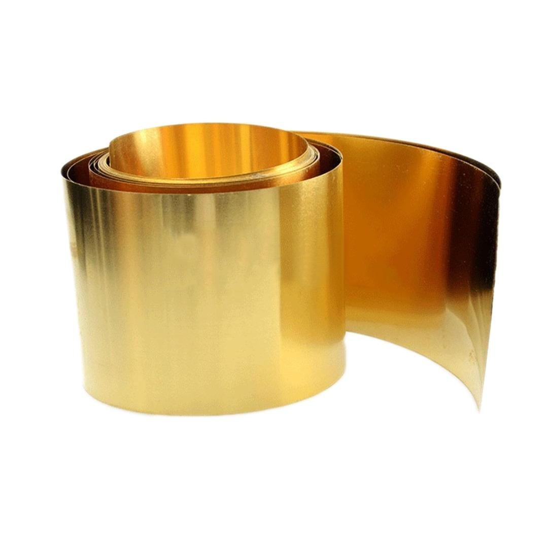 0.03mm x 100mm x 1000mm H62 Brass Metal Thin Sheet