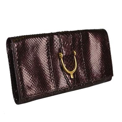 7edd52907aca Image Unavailable. Image not available for. Color: Gucci Women's Deep Vine  Red Python Skin Clutch Handbag Bag