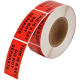 "MFLABEL® 2 Rolls ""This Is A Set Do Not Separate"" Labels Stickers 1""x2"" Red FBA Shipping Labels - 1,000 labels"