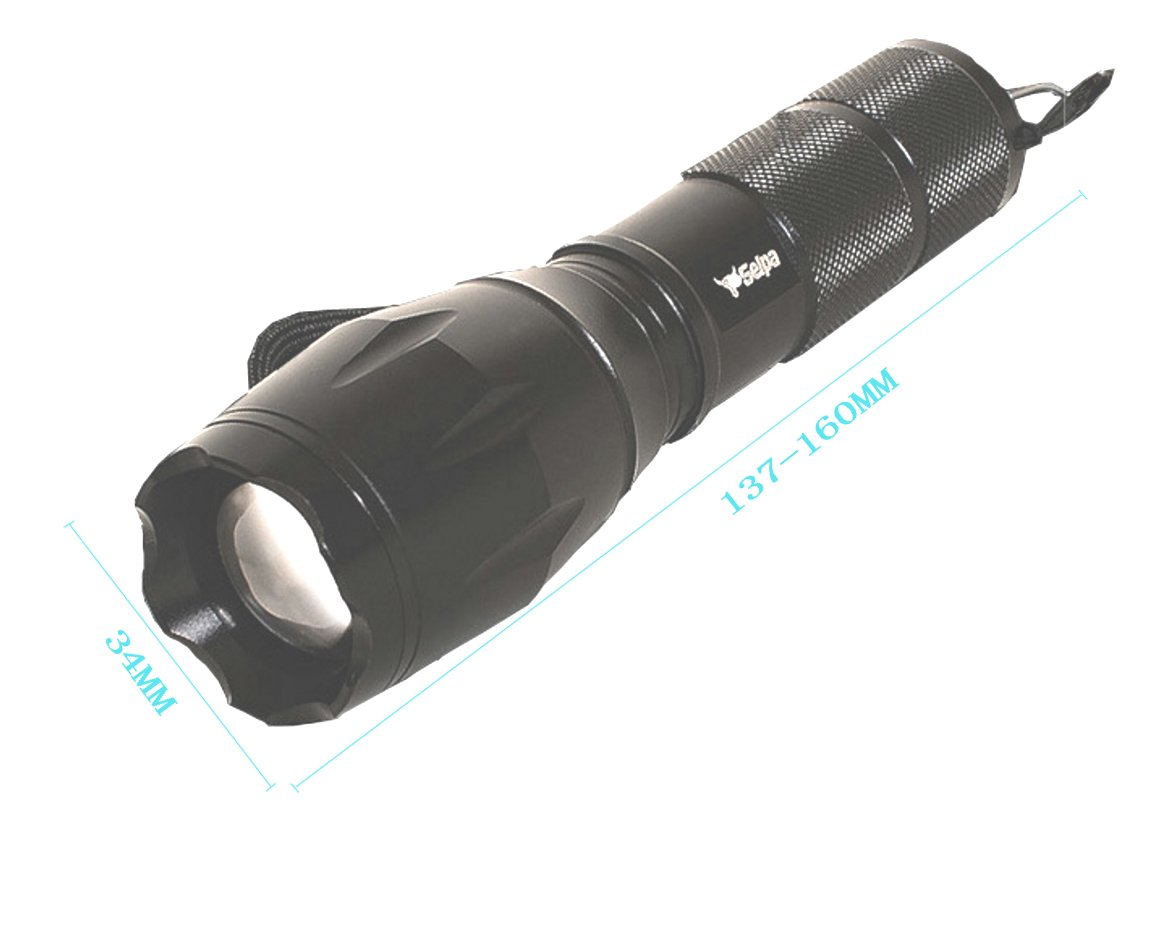 Amicc selpa 1000Lumen Tactical Flashlight T6 Led XML Military Torch Zoomable SHL-K109