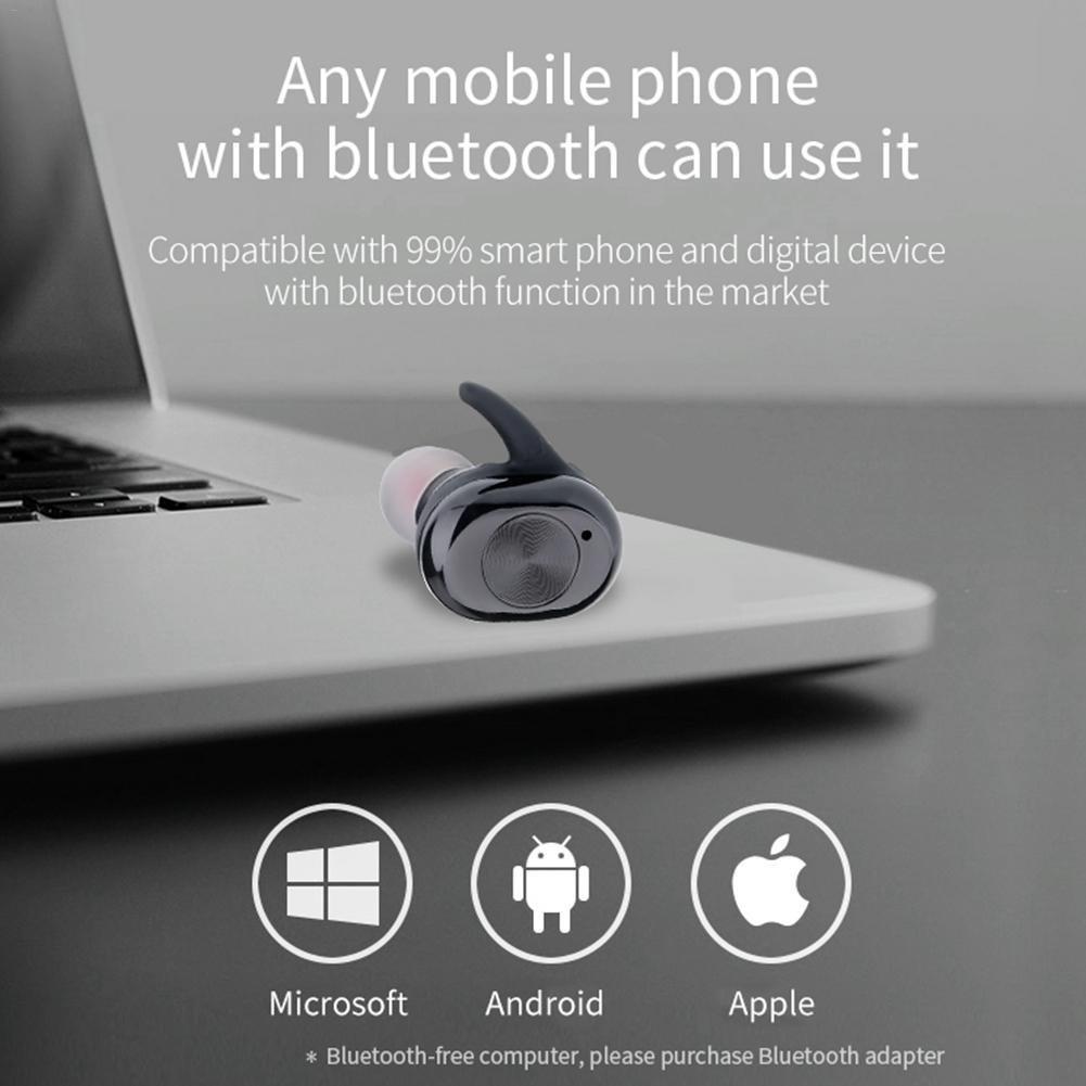 Una1Ellis Auriculares Bluetooth Auriculares Inalámbricos Estéreo In-ear Bluetooth 4.2 Manos Libres con Micrófono Dual con Caja de Carga para iPhone y otros ...