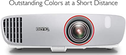 BenQ HT2150ST 1080P Short Throw Projector   2200 Lumens   96% Rec.709 for Accurate Colors   Low Input Lag Ideal for Gaming   2D Keystone for Flexible ...