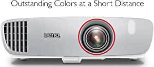 BenQ HT2150ST 1080P Short Throw Projector | 2200 Lumens | 96% Rec.709 for Accurate Colors | Low Input Lag Ideal for Gaming | Stream Netflix & Prime Video,White