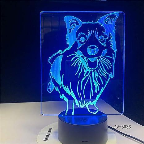 Lámpara de escritorio LED 3D con 7 colores cambiantes ...