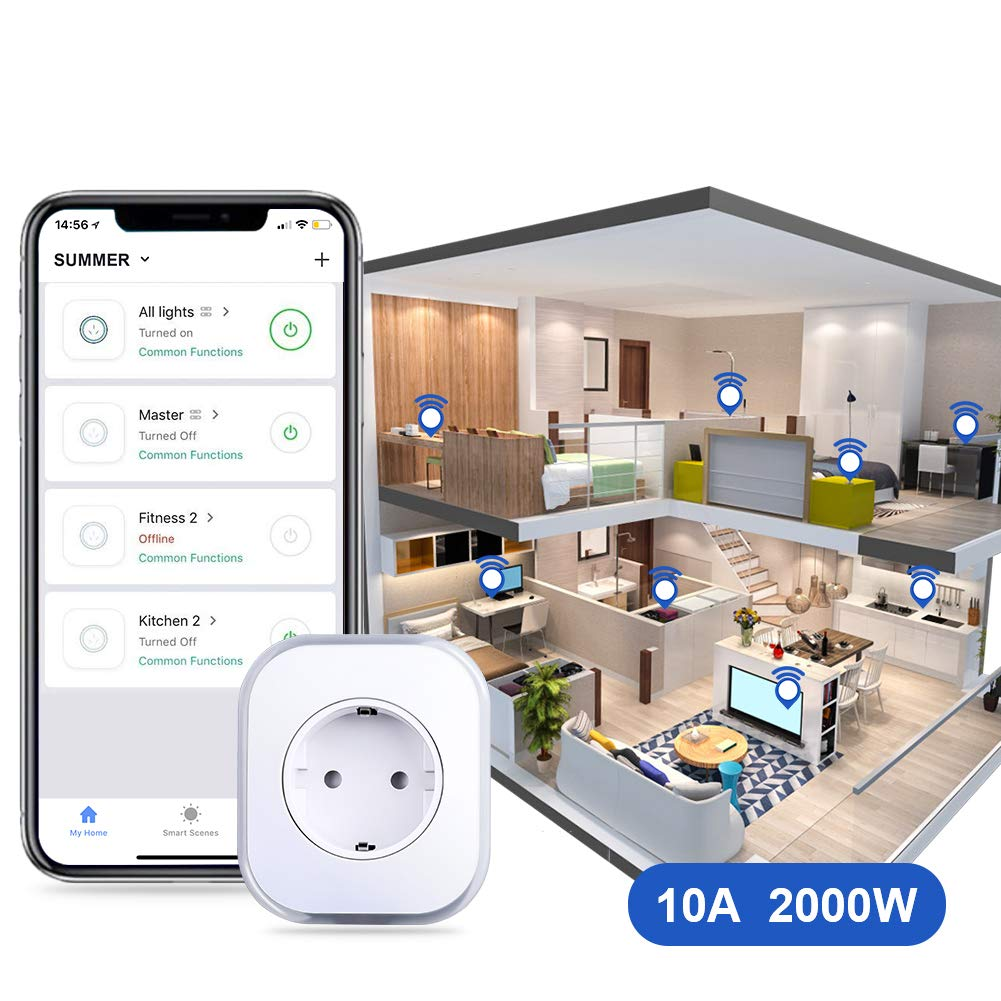 Smart Steckdose 2er Pack Fernbedienbar von /überall und App-f/ähig ARINO Smart Home Steckdose WiFi Plug mit USB-Port und Lampe mit Farbwechsel Kompatibel mit Alexa Google Home