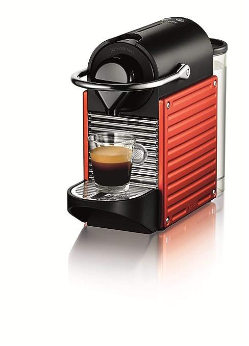 Nespresso Krups Pixie XN3006 - Cafetera monodosis de cápsulas Nespresso, 19 bares, apagado automático, color naranja